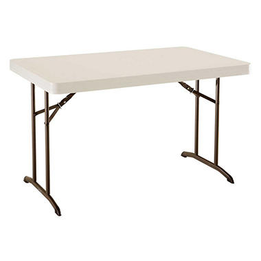 Lifetime 4' Commercial Grade Folding Table, Almond