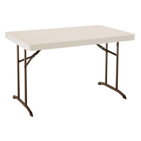 Lifetime 4' Commercial Grade Folding Table, Almond
