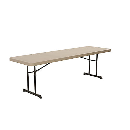 Lifetime 8' Professional Grade Folding Table, 18 Pack, Putty