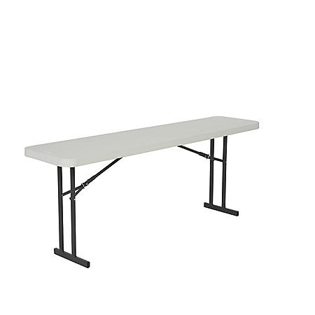 Lifetime 6' Folding Seminar Table, 5 Pack, White Granite