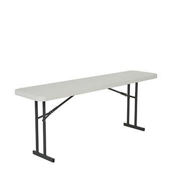 Lifetime 6' Folding Seminar Table, White Granite - 5 pack