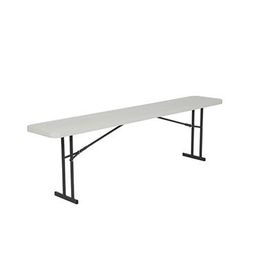 Lifetime 8' Seminar Folding Table, White Granite - 5 pack