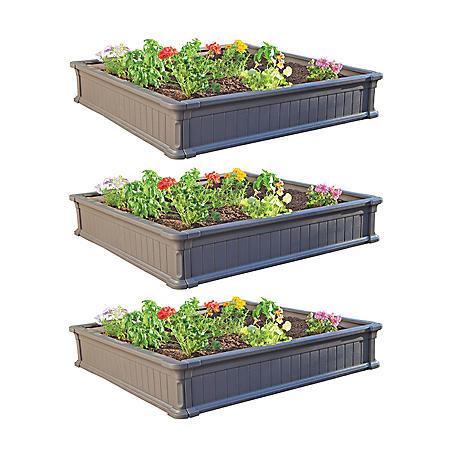 Lifetime 4' Raised Garden Bed (3 pk.)