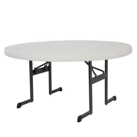 "Lifetime 60"" Round Professional Grade Folding Table, Choose a Color"