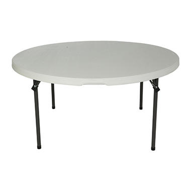 Lifetime 60 Round Commercial Grade Nesting Folding Table Choose A