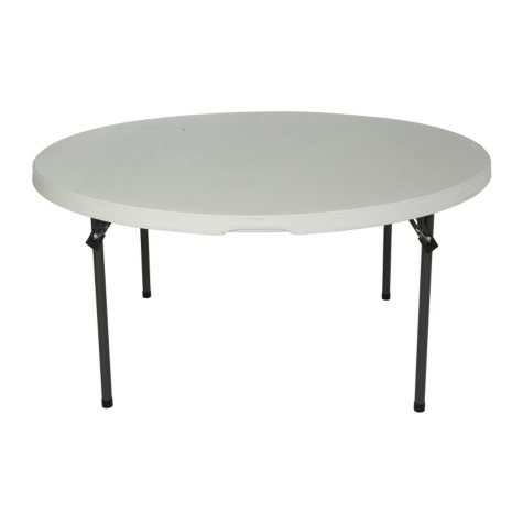 "Lifetime 60"" Round Commercial Grade Nesting Folding Table, Choose a Color"