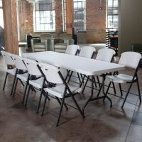 Lifetime Combo 8' Table and (8) Folding Chairs