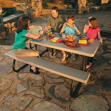 Lifetime 6' Folding Picnic Table - Putty