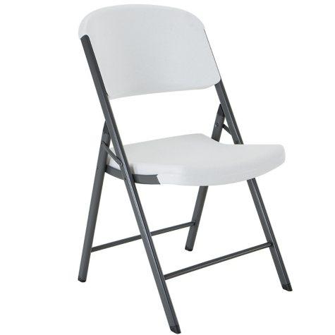 Lifetime Commercial Grade Contoured Folding Chair, Select Colors