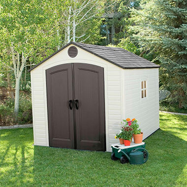 Garden Sheds 9x8 lifetime 8' x 10' outdoor storage shed - sam's club