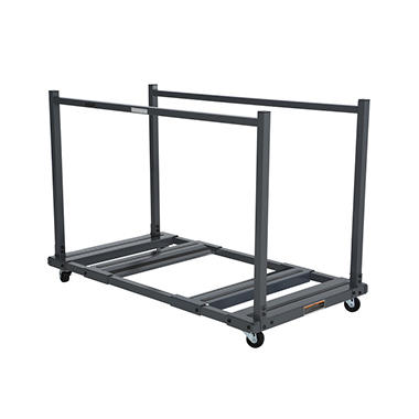 "Lifetime 57 ½"" Rolling Table Storage Cart, Steel"