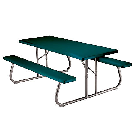 Lifetime 6' Single Folding Picnic Table (Hunter Green)