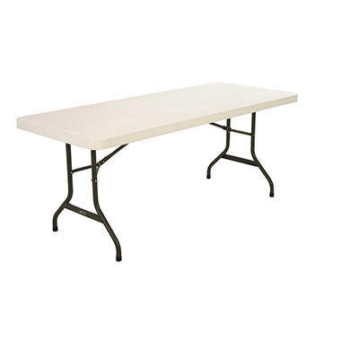 OFFLINE-Lifetime 6' Commercial Grade Folding Table, Almond