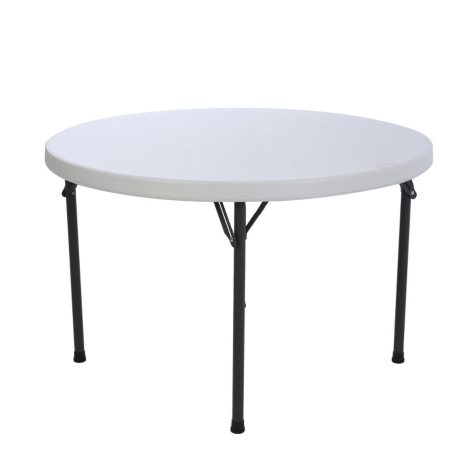 "Lifetime 46"" Round Commercial Grade Folding Table, White Granite"