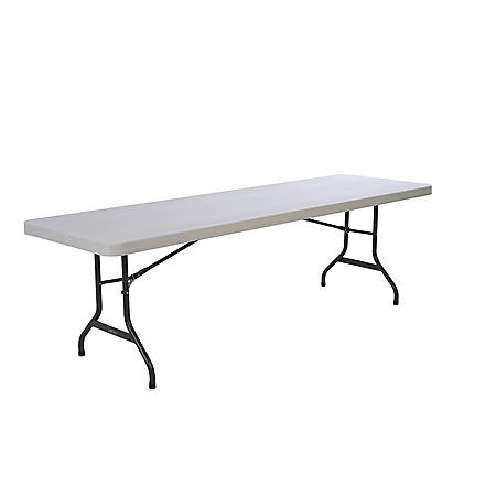 Lifetime 8' Commercial Grade Folding Table, Almond
