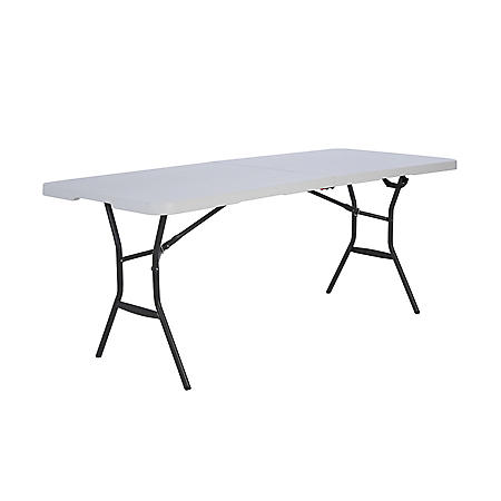 Lifetime 6' Fold-in-Half Light Commercial Grade Table, White Granite