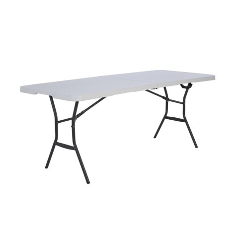Lifetime 6' Fold-in-Half Light Commercial Grade Table, White Granite