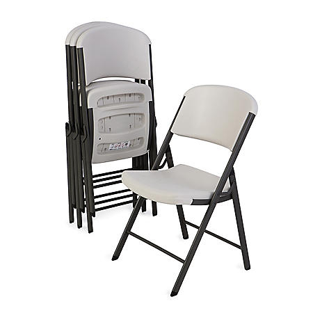 Lifetime Commercial Grade Contoured Folding Chair, 4 Pack, Choose a Color