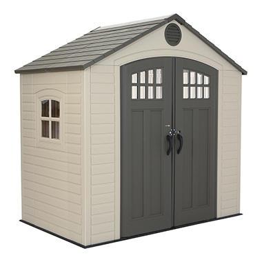 Lifetime 8u0027 X 5u0027 Outdoor Storage Shed