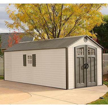 Lifetime 8u0027 X 20u0027 Outdoor Storage Shed