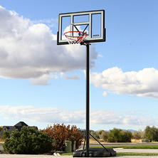 "Lifetime 46"" Courtside Shatterproof Portable Basketball System"