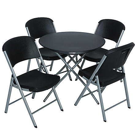 Lifetime Combo 33 Quot Round Personal Folding Table And 4