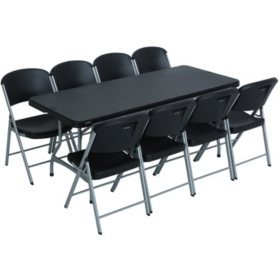Lifetime Combo 6 Commercial Grade Folding Table And 8 Chairs