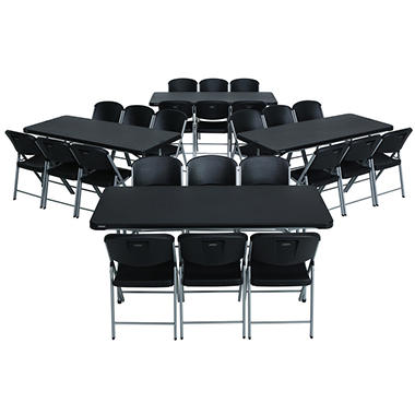Lifetime Combo Four 6 Commercial Grade Folding Tables And