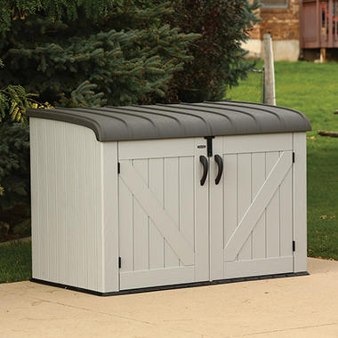 Lifetime Horizontal Storage Box, Gray