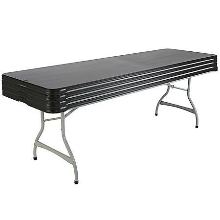 Lifetime 8' Commercial-Grade Folding Table 4 Pack, Choose a Color