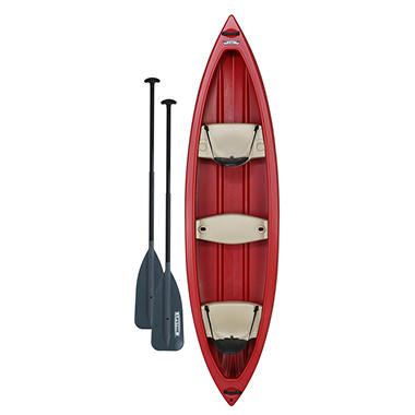 Lifetime Kodiak Canoe with Paddles (Red)