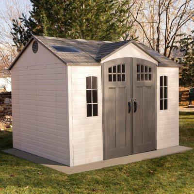 Lifetime 10u0027 X 8u0027 Outdoor Storage Shed With Carriage Doors