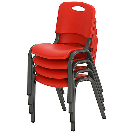 Lifetime Children's Stack Chair, 4 Pack, Choose a Color