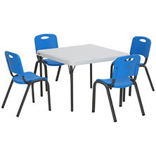 "Lifetime Children's Combo-One 29"" Commercial Grade Table and 4 Stack Chairs, Select Color"