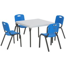 "Lifetime Children's Combo - 29"" Commercial Grade Table and (4) Stack Chairs, Choose a Color"