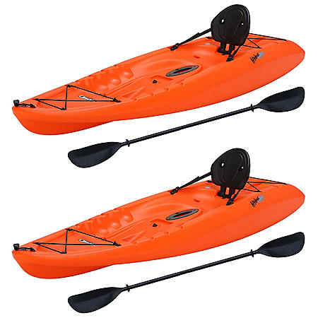 "Lifetime Hydros 8'5"" Sit-On-Top Kayak - 2 Pack (Paddles Included)"