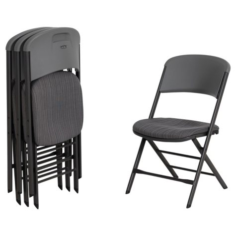 Lifetime Padded Commercial Folding Chair, 4 Pack, Choose a Color