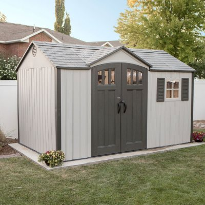 Lifetime 12.5u0027 X 8u0027 Outdoor Storage Shed