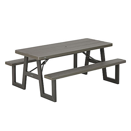 Lifetime 6-Foot W-Frame Picnic Table (Brown), 60233
