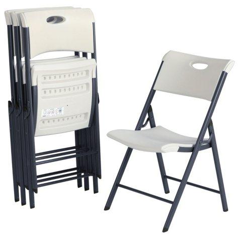 Lifetime Contemporary Commercial Folding Chair, 4 Pack, Choose a Color