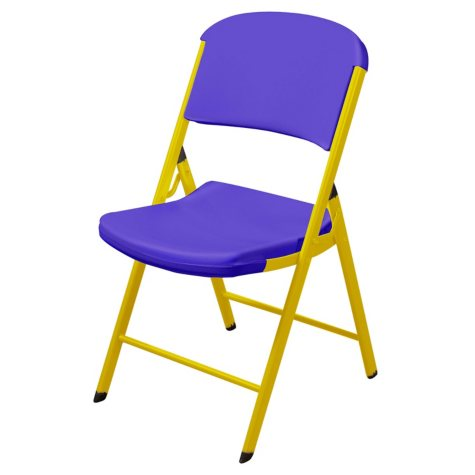 Lifetime Classic Commercial Folding Chair (Purple and Yellow)