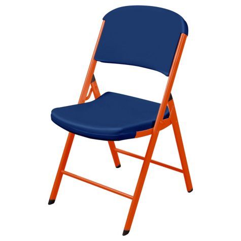 Lifetime Classic Commercial Folding Chair (Navy and Burnt Orange)