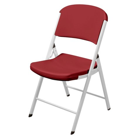 Lifetime Classic Commercial Folding Chair (Crimson and White)