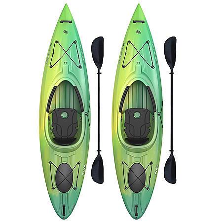 Emotion Tide 10' Sit-In Kayak - 2 Pack (Paddles Included)