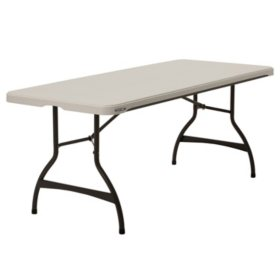 Lifetime 6' Commercial Grade Stacking Folding Table, Choose a Color