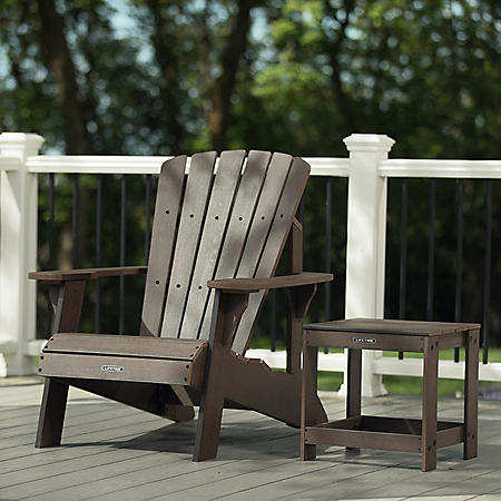 Lifetime Adirondack Chair and Table Combo