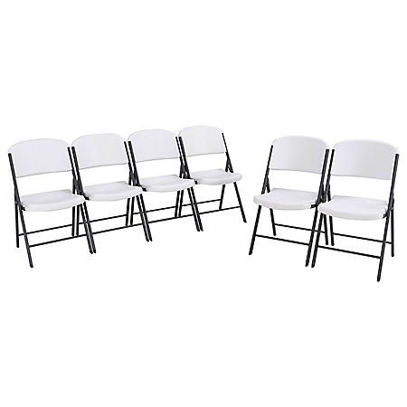 Lifetime Classic Folding Chair - 6 Pack (Commercial), Various Colors