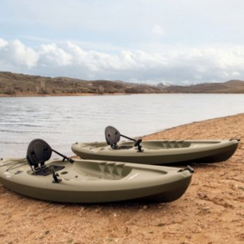 2 Pack Lifetime Triton Angler 100 Fishing Kayak