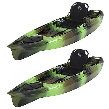 """Emotion Stealth Pro Angler 11'8"""" Fishing Kayak - 2 Pk"""