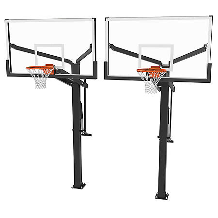 Lifetime Mammoth In-Ground 72-Inch Tempered Glass Basketball Hoop, Set of 2